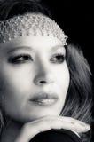 Portret van een mooi multiraciaal meisje stock foto's