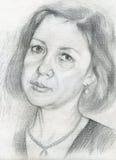 Zwart-wit portret van een vrouw Royalty-vrije Stock Afbeelding