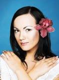 Zwart-wit portret van jonge vrouw Royalty-vrije Stock Fotografie