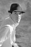 Zwart-wit Portret van Knappe Latino royalty-vrije stock fotografie