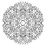 Zwart-wit radiaal ornament vector illustratie
