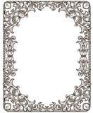 Zwart-wit retro frame Stock Afbeelding