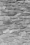 Zwart-wit rotsmuur royalty-vrije stock afbeelding
