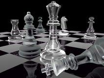 Zwart-wit schaak Stock Afbeelding
