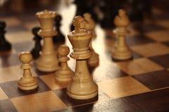 Zwart-wit schaak Stock Foto's