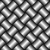 Zwart-wit scherp rand naadloos patroon stock illustratie