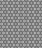 Zwart-wit Seamslesspatroon Stock Foto