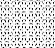 Zwart & wit sier geometrisch patroon, dunne lijnen, hexagonale structuur Stock Foto's