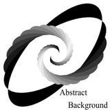 Zwart-wit Spiralen die aan het Centrum samenkomen Elliptisch Ontwerpelement royalty-vrije illustratie