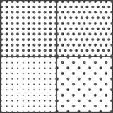Zwart-wit stippen naadloos patroon stock illustratie