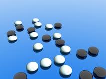 Zwart-wit Suikergoed Stock Afbeelding