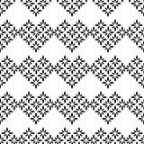Zwart-wit Textielpatroon Stock Afbeeldingen