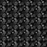 Zwart-wit van Abstracte Vorm met Geometrische Lijn Art Seamless Pattern stock illustratie