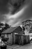 Zwart-wit van een oude binnenlandkeet Stock Fotografie