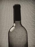 Zwart-wit van het Glaswerk van de Wijn Ontwerp Als achtergrond. Stock Afbeelding