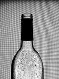 Zwart-wit van het Glaswerk van de Wijn Ontwerp Als achtergrond. Stock Foto