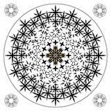 Zwart-wit van het terugkomen stekelig gevaarlijk hoekig cross-pieces en lijnenpatroon stock illustratie