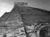 Zwart-wit van Kerktorenspits stock foto's