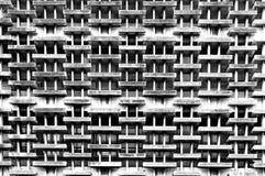 Zwart-wit van oud de bouw extern detailpatroon Stock Foto's
