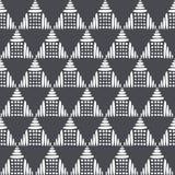 Zwart-wit Vector Naadloos Patroon moderne modieuze textuur Herhalend geometrische tegels van van gestreepte getrokken hand royalty-vrije illustratie