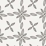 Zwart-wit Vectorbloempatroon Royalty-vrije Stock Foto