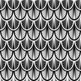 Zwart-wit Verdeeld Schaal Naadloos Patroon vector illustratie