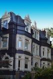 Zwart-wit Victoriaans Huis Stock Afbeelding