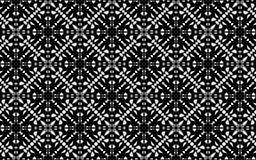 Zwart-wit vier opgeruimd mandalapatroon Stock Afbeeldingen