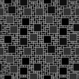 Zwart-wit Vierkant de Tegelklopje van het Mozaïek Abstract Geometrische Ontwerp Stock Fotografie