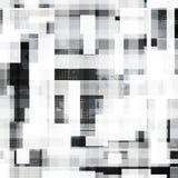 Zwart-wit vierkanten naadloos patroon met grungeeffect Royalty-vrije Stock Afbeelding