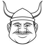 Zwart-wit Viking Dude vector illustratie