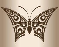 Zwart-wit vlinder Royalty-vrije Stock Afbeelding