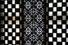 Zwart-witte abstactachtergrond Stock Afbeeldingen