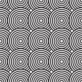Zwart-witte abstracte achtergrond met cirkels Royalty-vrije Stock Afbeelding