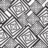 Zwart-witte abstracte achtergrond met vierkanten Stock Fotografie
