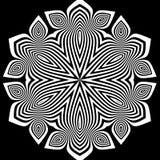 Zwart-witte abstracte gestreepte achtergrond Stock Fotografie