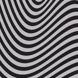 Zwart-witte abstracte gestreepte achtergrond Optisch art vector illustratie