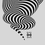 Zwart-witte abstracte gestreepte achtergrond Optisch art Vector illustratie royalty-vrije illustratie