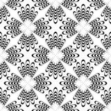 Zwart-witte Abstracte Naadloos Stock Foto