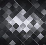 Zwart-witte Abstracte Technologieachtergrond Stock Afbeelding