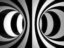 Zwart-witte abstractieillustratie Stock Fotografie