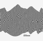 Zwart-witte achtergrond Patroon met optische illusie Vector illustratie stock illustratie