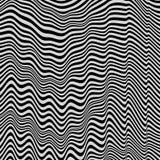 Zwart-witte achtergrond Patroon met optische illusie stock illustratie