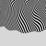 Zwart-witte achtergrond Patroon met optische illusie royalty-vrije illustratie