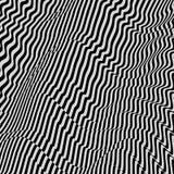 Zwart-witte achtergrond Patroon met optische illusie vector illustratie