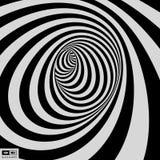 Zwart-witte achtergrond Patroon met optische illusie Vector illustratie vector illustratie
