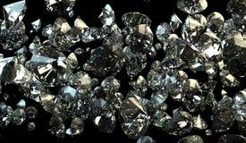 Zwart-witte achtergrond van glitterydiamanten stock fotografie