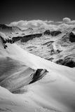 Zwart-witte alpen - royalty-vrije stock foto