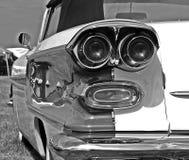 Zwart-witte Amerikaanse auto royalty-vrije stock afbeelding