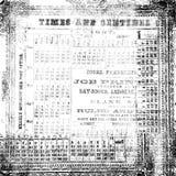 Zwart-witte antieke oude numerieke textuur Royalty-vrije Stock Foto's
